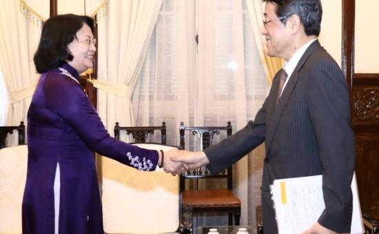 Phó Chủ tịch nước tiếp Đại sứ Nhật Bản tại Việt Nam đến chào từ biệt
