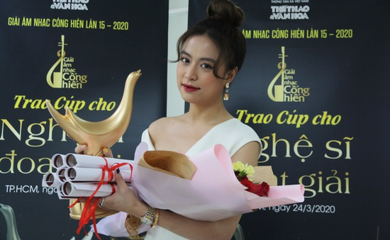 """Giải Cống hiến 2020: Hoàng Thùy Linh giành """"cú ăn bốn"""", Tân Nhàn thắng """"Chương trình của năm"""""""