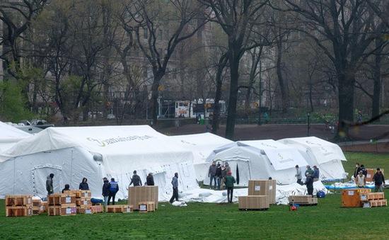 Mỹ: New York lập bệnh viện dã chiến giữa công viên