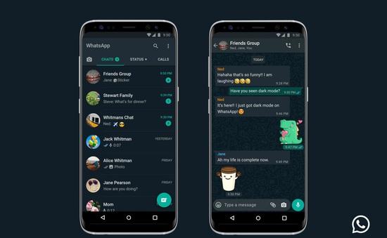 WhatsApp cập nhật chế độ nền tối trên iOS và Android