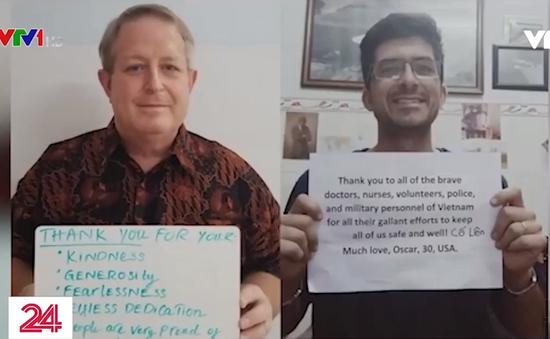 """Người nước ngoài đồng loạt nhắn """"Cảm ơn Việt Nam"""" trong cuộc chiến chống COVID-19"""