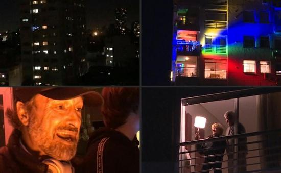 DJ biến ban công thành hộp đêm phục vụ người dân ở nhà