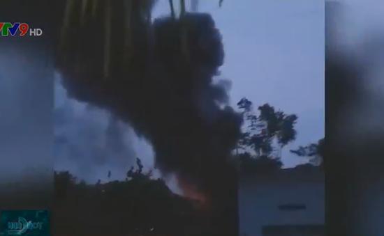 Cháy lớn ở xưởng gỗ tại Củ Chi, TP.HCM