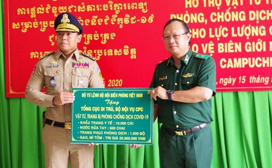 Hỗ trợ Campuchia phòng chống dịch COVID-19 trên tuyến biên giới