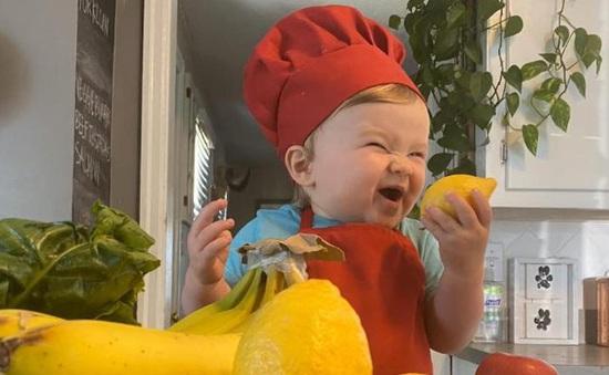 """Đầu bếp 1 tuổi trở thành """"ngôi sao"""" trên Instagram"""