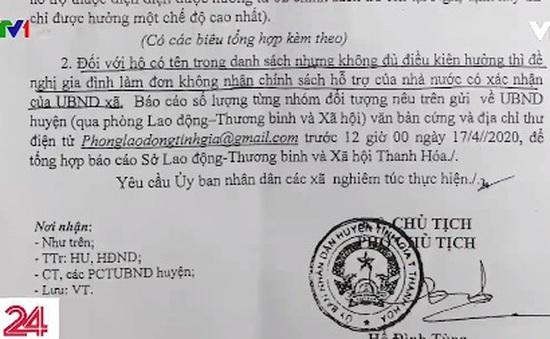 Muôn kiểu sai sót hỗ trợ COVID-19 ở Thanh Hóa: Trăm dâu đổ đầu... ông trưởng thôn