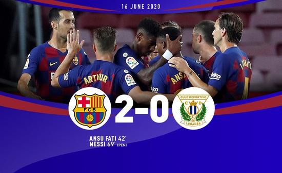 Thắng Leganes 2-0, Barcelona tiếp tục tạo áp lực cho Real Madrid