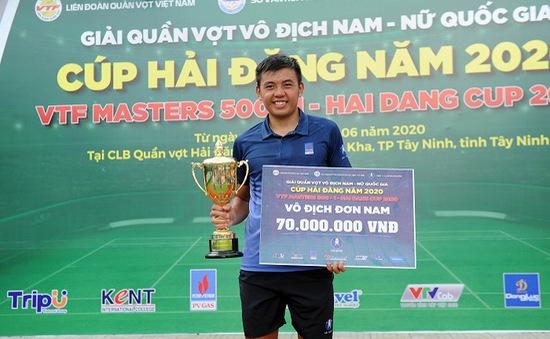 Lý Hoàng Nam giành cú đúp vô địch giải quần vợt VTF Masters Hải Đăng