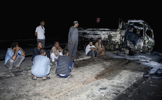 Cháy kinh hoàng đường ống dẫn dầu tại Ai Cập, 17 người bị thương