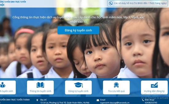 Hướng dẫn phụ huynh đăng ký tuyển sinh đầu cấp trực tuyến tại Hà Nội