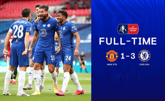 Thắng đậm Man Utd, Chelsea tạo nên trận derby London ở chung kết cúp FA