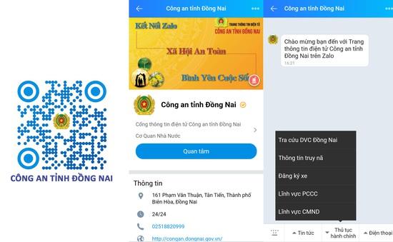 Công an tỉnh Đồng Nai mở 182 tài khoản Zalo tương tác với người dân
