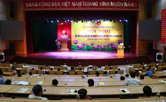 Kết nối cung cầu tiêu thụ nhãn và nông sản tại Hưng Yên