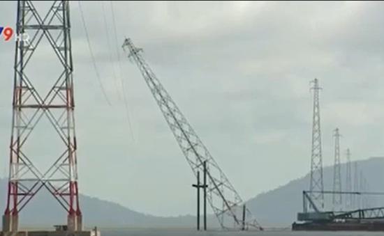 Kiên Giang: Khắc phục trụ điện bị ngã trên biển trong 42 ngày