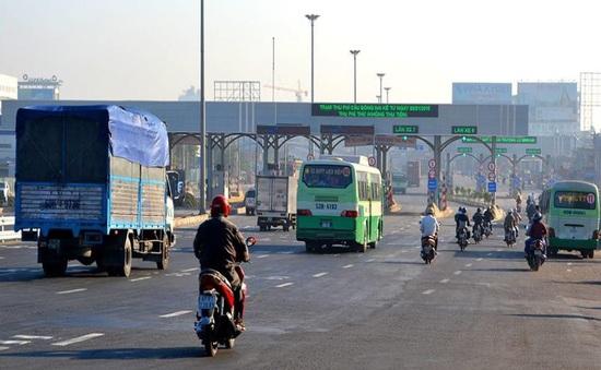 Cầu Đồng Nai thông thoáng sau khi tạm dừng thu phí