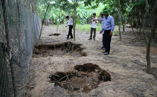 Sụt lún đất bất thường ở xã Triệu Thuận, Quảng Trị