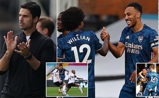 Willian tỏa sáng, Arsenal đè bẹp Fulham