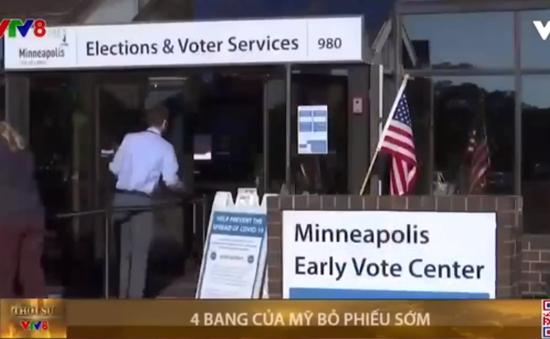 4 bang tại Mỹ tổ chức bỏ phiếu bầu cử Tổng thống sớm
