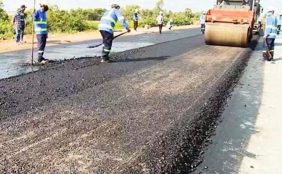 Thảm bê tông tuyến đầu cao tốc Trung Lương - Mỹ Thuận