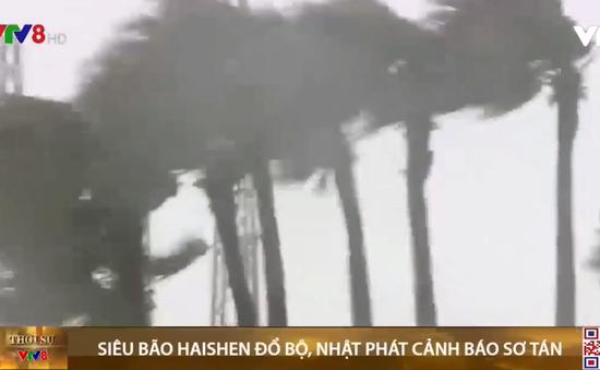 Siêu bão Haishen đổ bộ, Nhật phát cảnh báo sơ tán