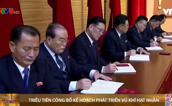 Triều Tiên công bố kế hoạch phát triển loạt vũ khí hạt nhân mới