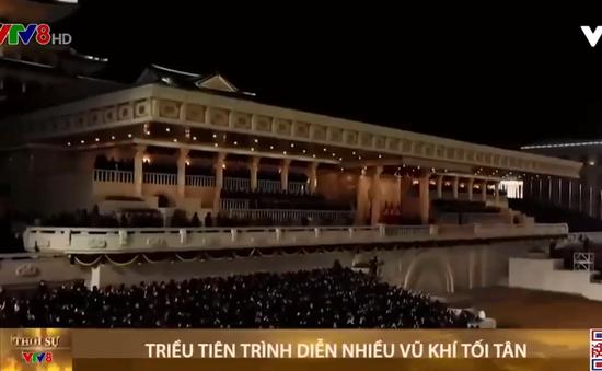 Triều Tiên trình diễn nhiều vũ khí tối tân trong lễ duyệt binh