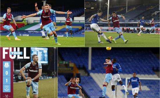 Everton 0-1 West Ham: Everton đứt mạch thắng, West Ham tìm lại niềm vui