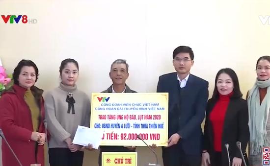 Công đoàn Đài THVN ủng hộ khắc phục thiên tai 3 tỉnh miền Trung