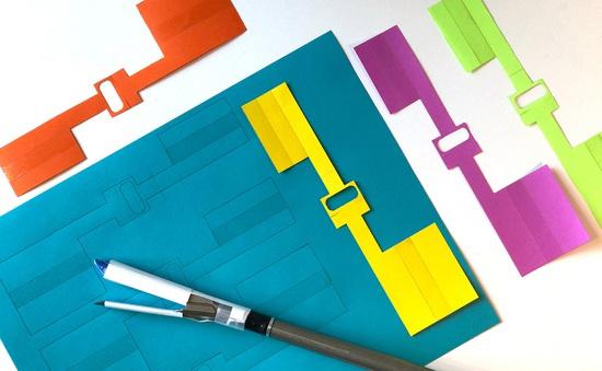 Phát minh miếng dán origami giúp băng vết nội thương