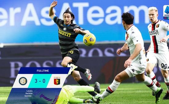 Inter Milan 3-0 Genoa: Lukaku tiếp tục ghi dấu ấn