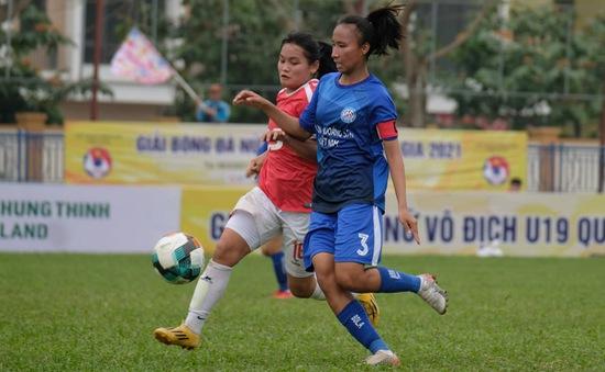 Than KSVN vô địch lượt đi Giải Bóng đá Nữ U19 Quốc gia 2021