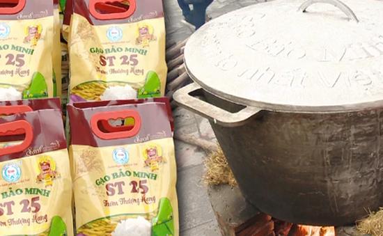 Kỷ lục nồi cơm nấu từ 1 tạ gạo ST25