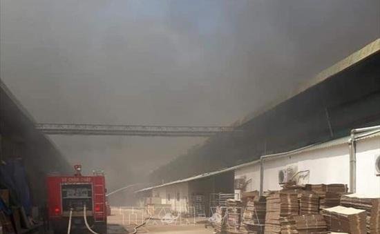 Khống chế kịp thời đám cháy trong khu công nghiệp tại Bình Dương