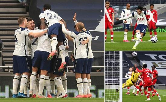 Tottenham 2-1 Southampton: Gareth Bale và Son Heung Min tỏa sáng
