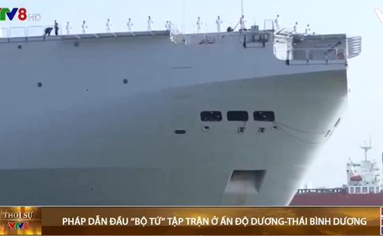 Pháp dẫn đầu cuộc tập trận với 'Bộ tứ' thách thức Trung Quốc