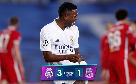 Real Madrid thắng thuyết phục Liverpool ở tứ kết Champions League