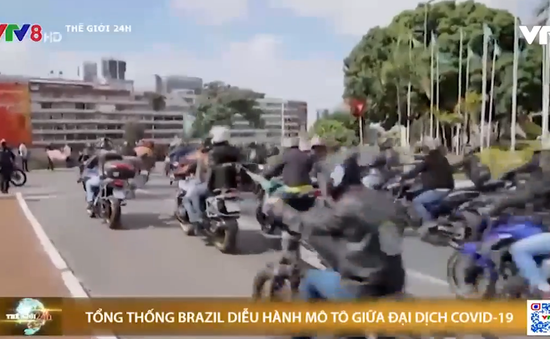 COVID-19: Tổng thống Brazil diễu hành mô tô không khẩu trang, tuyên bố đang đánh bại đại dịch