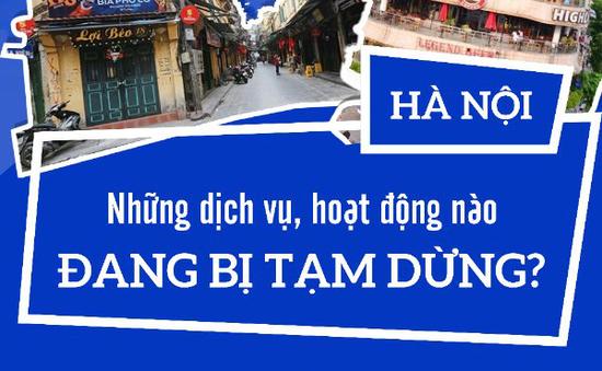 [INFOGRAPHIC] Những dịch vụ, hoạt động nào ở Hà Nội bị tạm dừng?