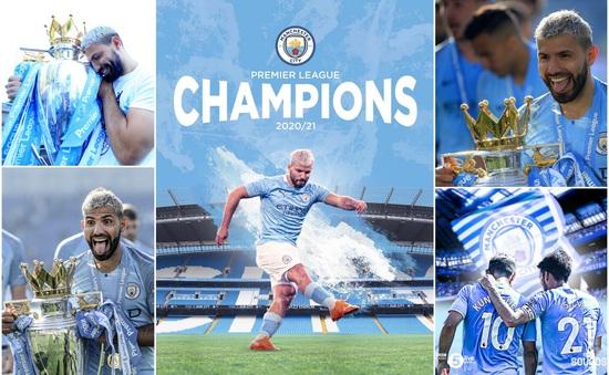 Man City vô địch sớm Ngoại hạng Anh: Aguero xác lập kỷ lục trong lịch sử nửa xanh thành Manchester