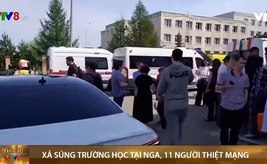 Xả súng tại trường học Nga