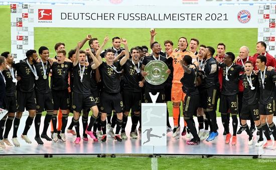 Kết quả vòng 34 Bundesliga: Bayern Munich vô địch, Lewandowski lập kỷ lục ghi bàn