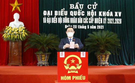 Chủ tịch Quốc hội Vương Đình Huệ: Qua cuộc bầu cử càng thấy được sức mạnh trùng điệp của nhân dân