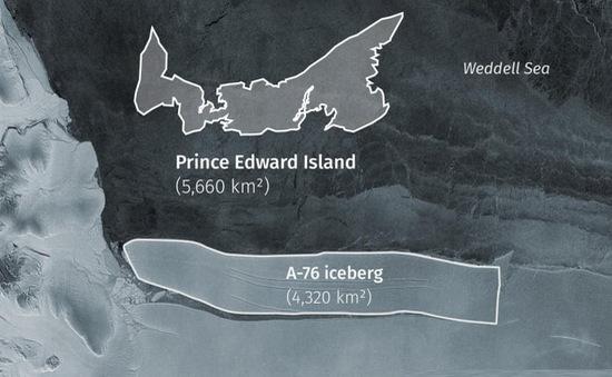 Tảng băng trôi lớn nhất thế giới vỡ ra từ thềm Nam Cực