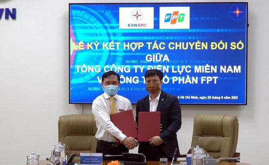Tổng công ty Điện lực miền Nam (EVNSPC) ký hợp tác với FPT về chuyển đổi số