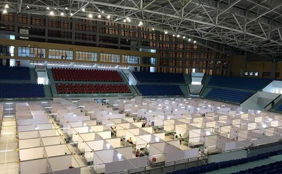 Gấp rút hoàn thiện Bệnh viện dã chiến tại Nhà thi đấu tỉnh Bắc Giang