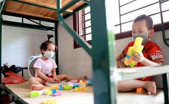 Hỗ trợ tiền ăn cho trẻ em bị nhiễm COVID-19 và phải cách ly tập trung phòng dịch