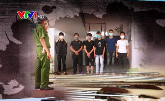 Ngăn chặn nhóm thiếu niên dùng dao phóng lợn và tuýp sắt chuẩn bị hỗn chiến