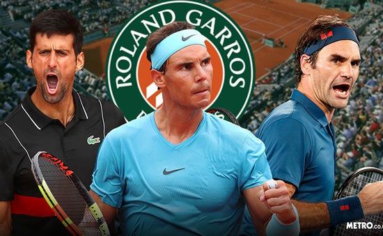 Vòng 2 đơn nam Roland Garros: Federer, Nadal và Djokovic cùng tiến vào vòng trong