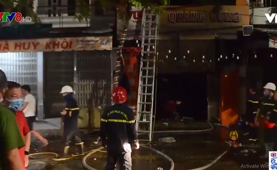 Quảng Ngãi: Cháy cửa hàng đồ điện, 4 người thiệt mạng