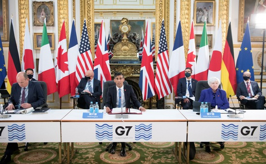 """Thỏa thuận thuế doanh nghiệp toàn cầu của G7: Chấm dứt """"cuộc chạy đua xuống đáy"""""""